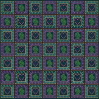 Diseño de vector de fondo de patrón de corazón y cactus mexicano