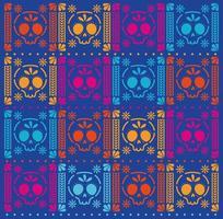 Mexican skulls pattern background vector design