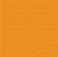 Patrón de cactus mexicano en un diseño de vector de fondo naranja