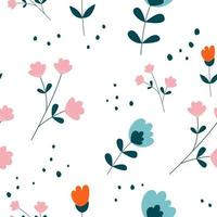 Vector floral flower seamless pattern design. Can be used for wallpaper, background, scrapbook, and another creative project.