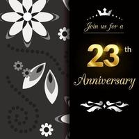 23 Year Anniversary Template Design Illustration vector