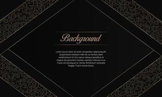 Modern Black Luxury background With Golden Pattern