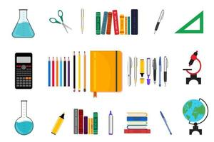 Colorful School Supplies Collection