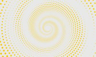 Abstract Yellow Halftone Pattern Background