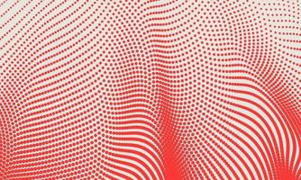 Abstract Red Wave Halftone Background
