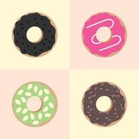 Set of Yummy Donuts Vector