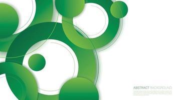 Ilustración de vector de fondo de círculo verde abstracto