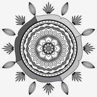 Circular Pattern In Form Of Mandala, Decorative Ornament In Oriental Style, Ornamental Mandala Design Background with vines birds and butterflies Free Vector