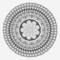 Circular Floral Pattern In Form Of Mandala, Decorative Ornament In Oriental Style, Ornamental Mandala Design Background With Vines and Flowers Free Vector