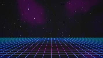 rörelse retro blå linjer i rymden, abstrakt bakgrund