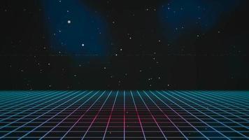 beweging retro blauwe lijnen in de ruimte, abstracte achtergrond video