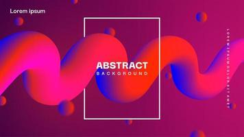 Abstract colorful fluid background vector