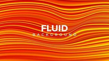 Fondo de estilo fluido naranja abstracto vector