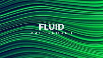 hermosa imagen de fondo líquido verde 3d. vector