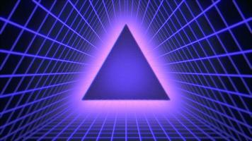 movimento retro triângulo verde abstrato video
