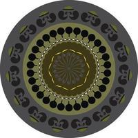 Ornamental Round mandala Pattern vector