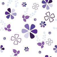 Simple geometric flowers vector pattern