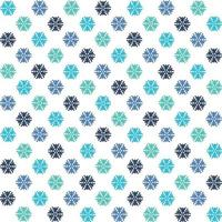 Colored snowflakes pattern vector