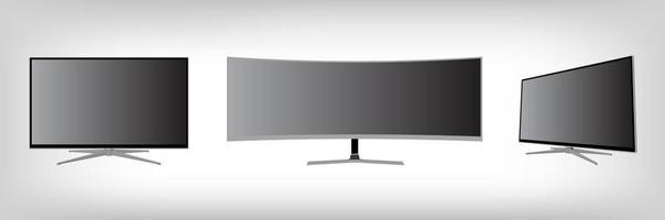 Led tv 3d realistic mockup. vector