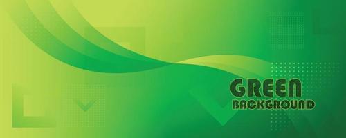 fondo de banner geométrico moderno verde vector