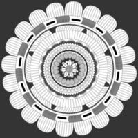 patrón circular en forma de mandala, adorno decorativo en estilo oriental vector