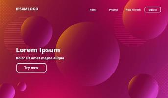 Liquid color background design. Fluid gradient shapes composition. Futuristic design landing page. Vector illustration