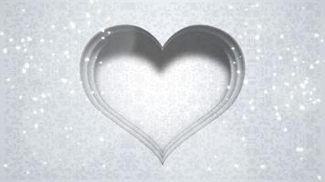 closeup corações brancos de amor, fundo do casamento
