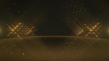 beweging gouden lijnen van stippen, abstracte achtergrond video