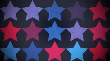 movimento padrão de estrelas coloridas, fundo abstrato video