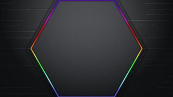 movimento colorido hexágono abstrato video