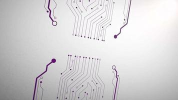 fundo abstrato do chip do computador de movimento video