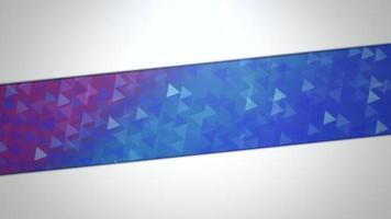 movimento triângulos azul e roxo abstrato video