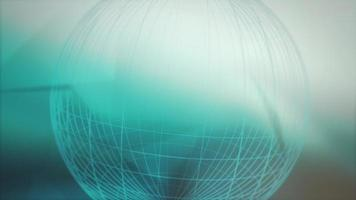 Motion world map abstract background video