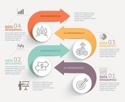 Fondo de plantilla de línea de tiempo de infografía empresarial. ilustración vectorial. vector