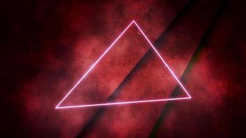 beweging kleurrijke neonlichten en driehoek abstracte achtergrond video