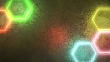 beweging kleurrijke neonlichten op muur, abstracte achtergrond video