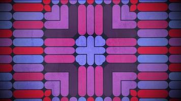 Movimiento colorido patrón de forma geométrica, fondo abstracto video