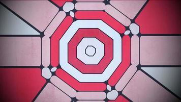 Bewegung buntes geometrisches Formmuster, abstrakter Hintergrund video