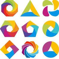 Abstract logo shape design. Vector illustrations.