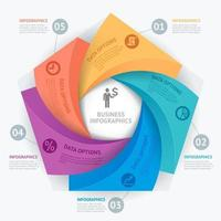 Business Infographics design template. Vector illustration. Can be used for workflow layout, diagram, number options, start-up options, web design
