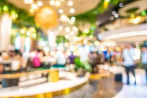 Abstract defocused shopping mall background photo