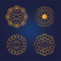 gold mandala set vector design