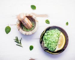 Mint bath salt photo