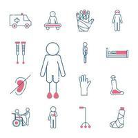 Disability icon set vector