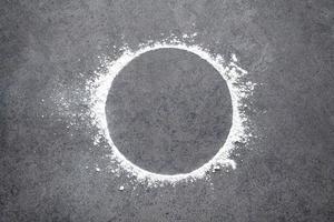 círculo de harina
