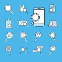 conjunto de iconos de búsqueda