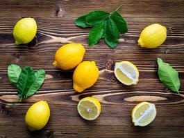 endecha plana de limón foto
