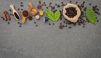 concepto de granos de cafe foto