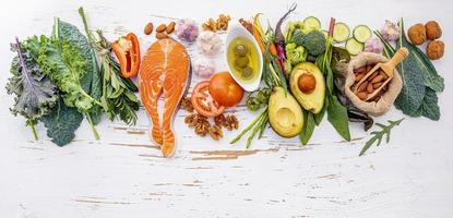 Keto diet raw ingredients photo