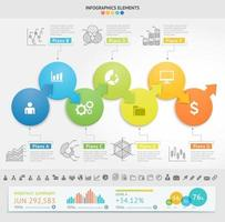 Business Infographics design template. Vector illustration. Can be used for workflow layout, diagram, number options, start-up options, web designs.